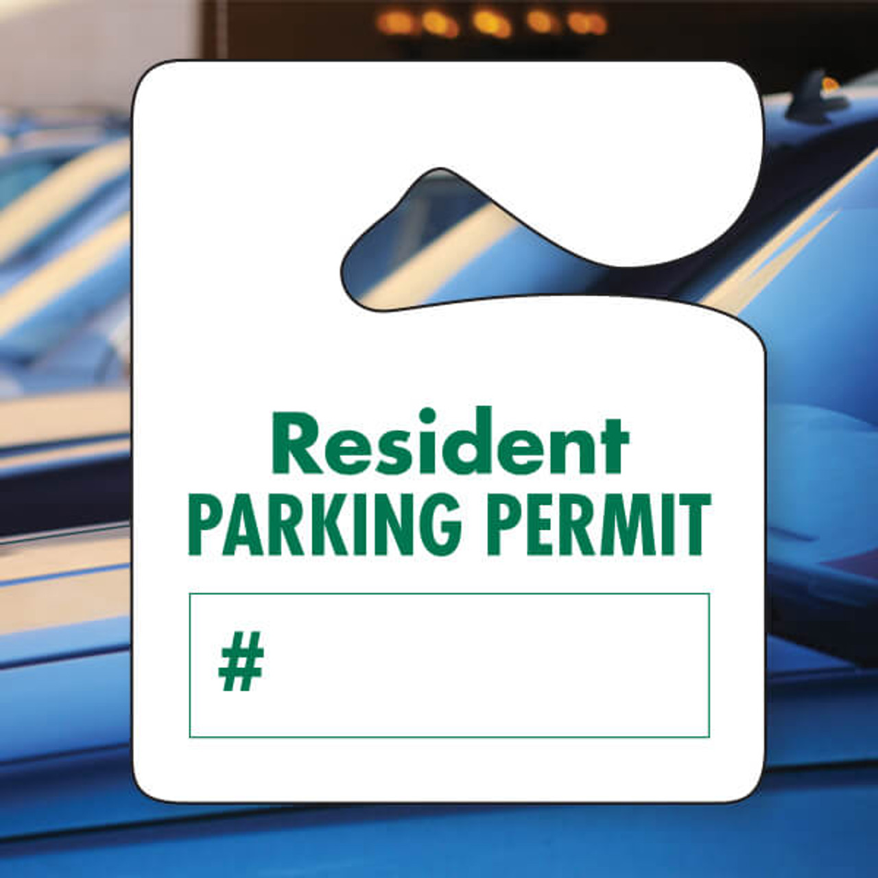Heavy Duty Stock Parking Permit Forest Green