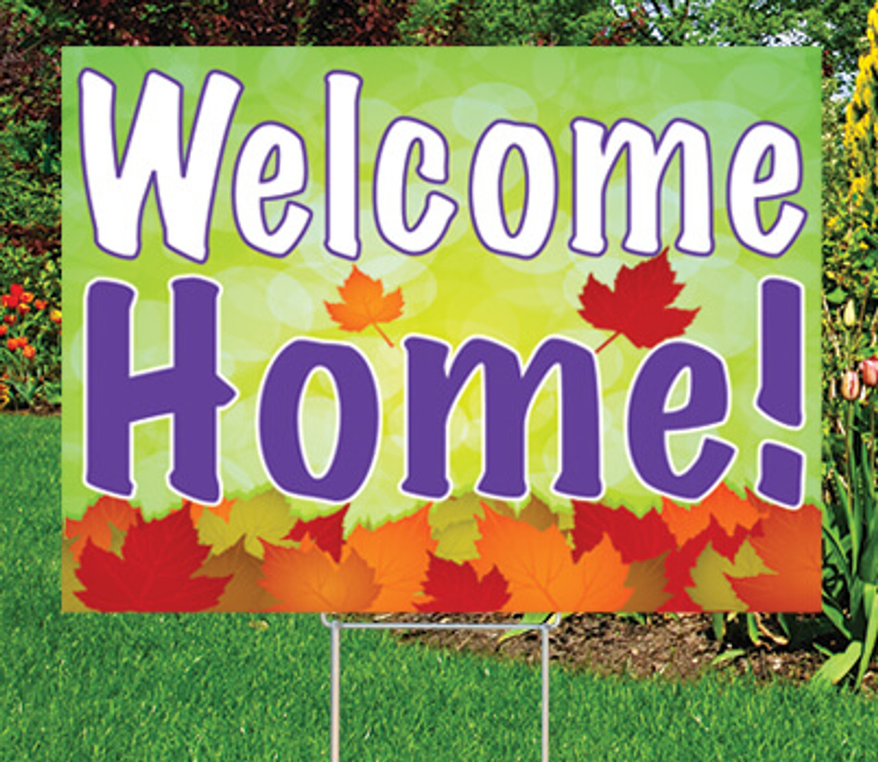 """Welcome Home-18""""x24"""" Sign-Autumn's Bright Colors"""