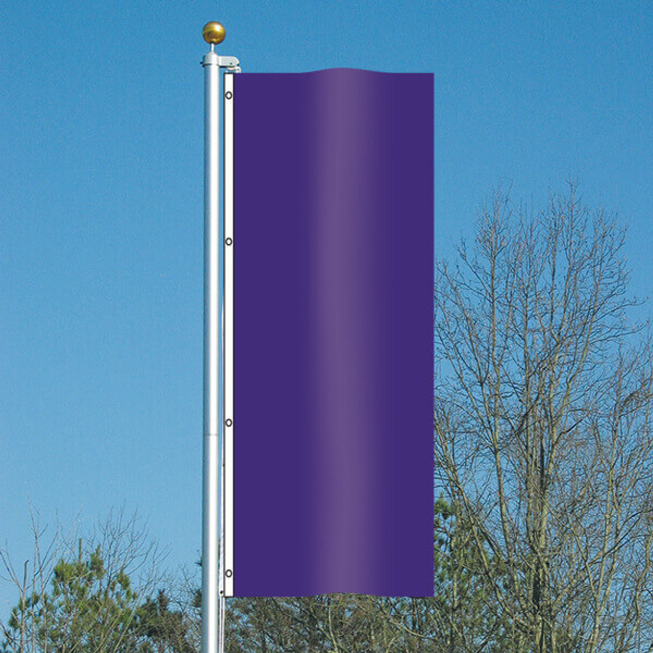3' x 8' Vivacity Vertical Flag - Perfect Purple
