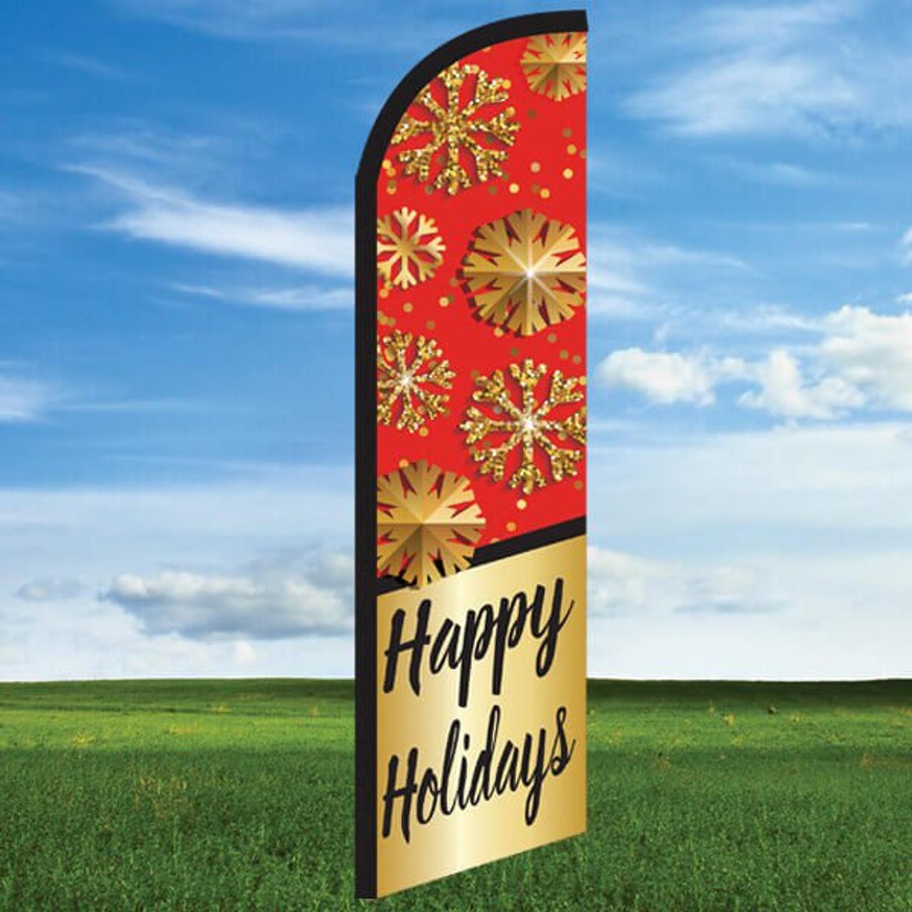 Snowflake: Happy Holidays- Windleasers 24/7 Widebody Flag