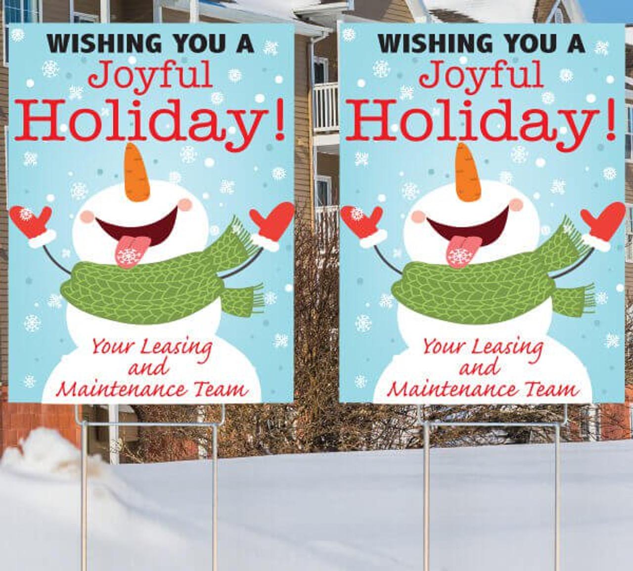 Holiday Sign Bundle Set/2 Signs and stakes
