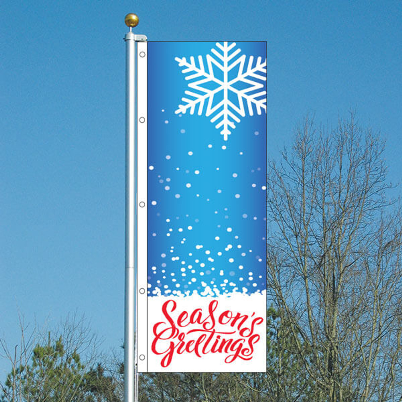 3x8 Season's Greetings Vertical Flag