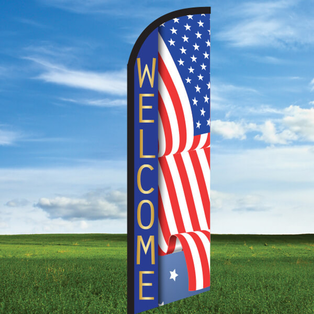 America: Welcome- Windleasers 24/7 Widebody Flag