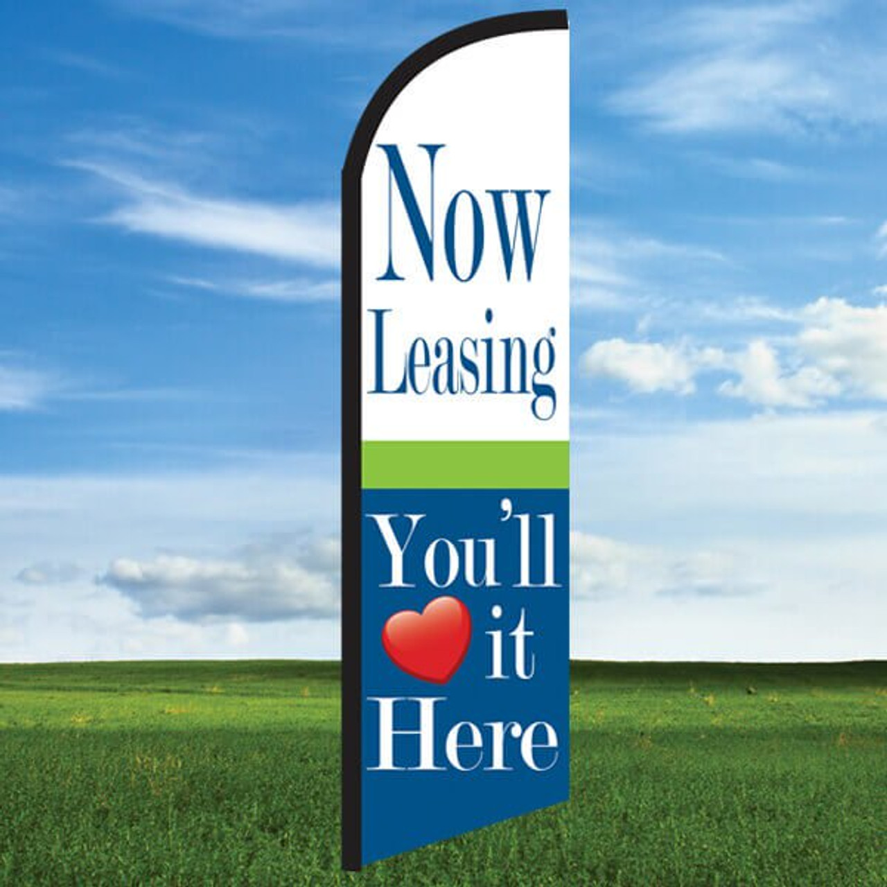 Cheerful: Now Leasing/You'll Love it Here- Windleasers 24/7 Widebody Flag