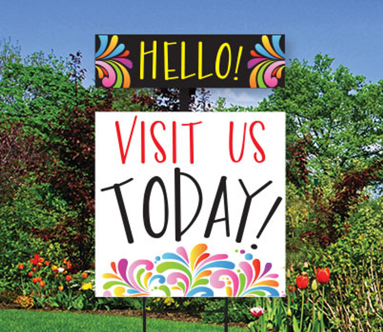Splash Top Spin Sign: Visit Us Today