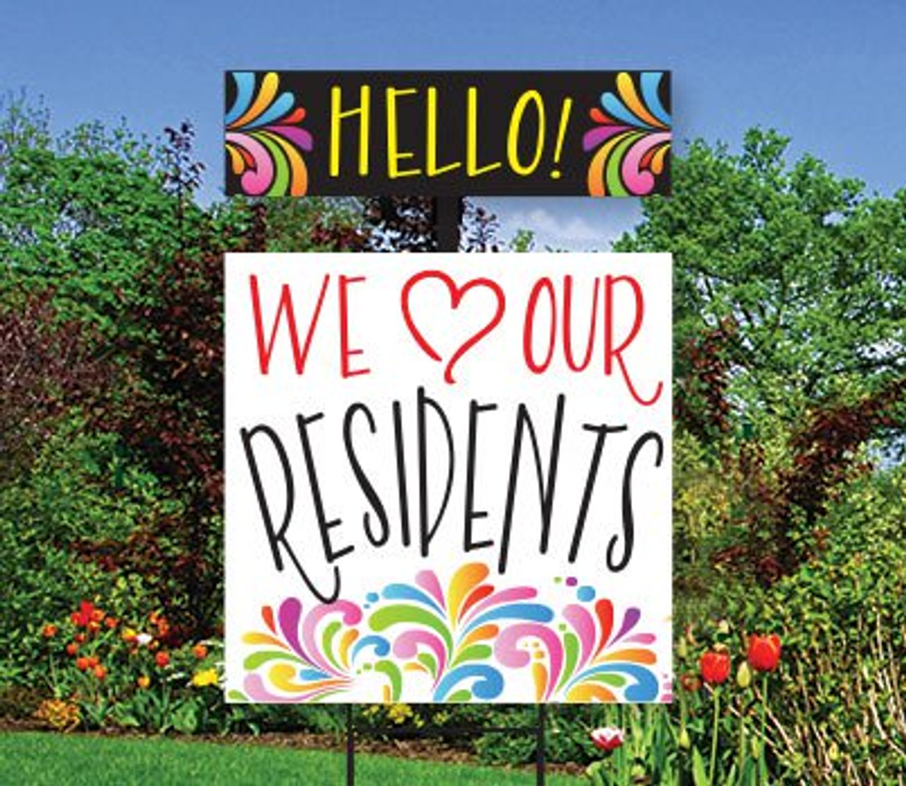 Splash Top Spin Sign: We Love Our Residents