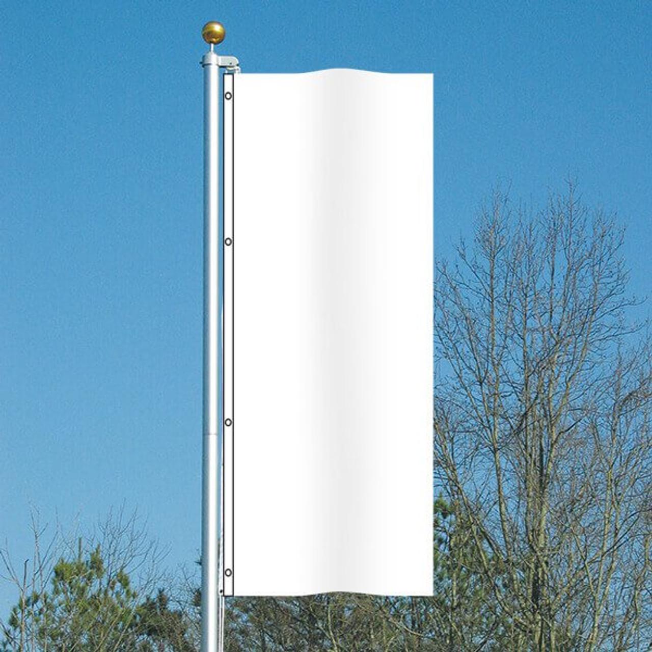 3' x 8' Vivacity Vertical Flag - Glacier White