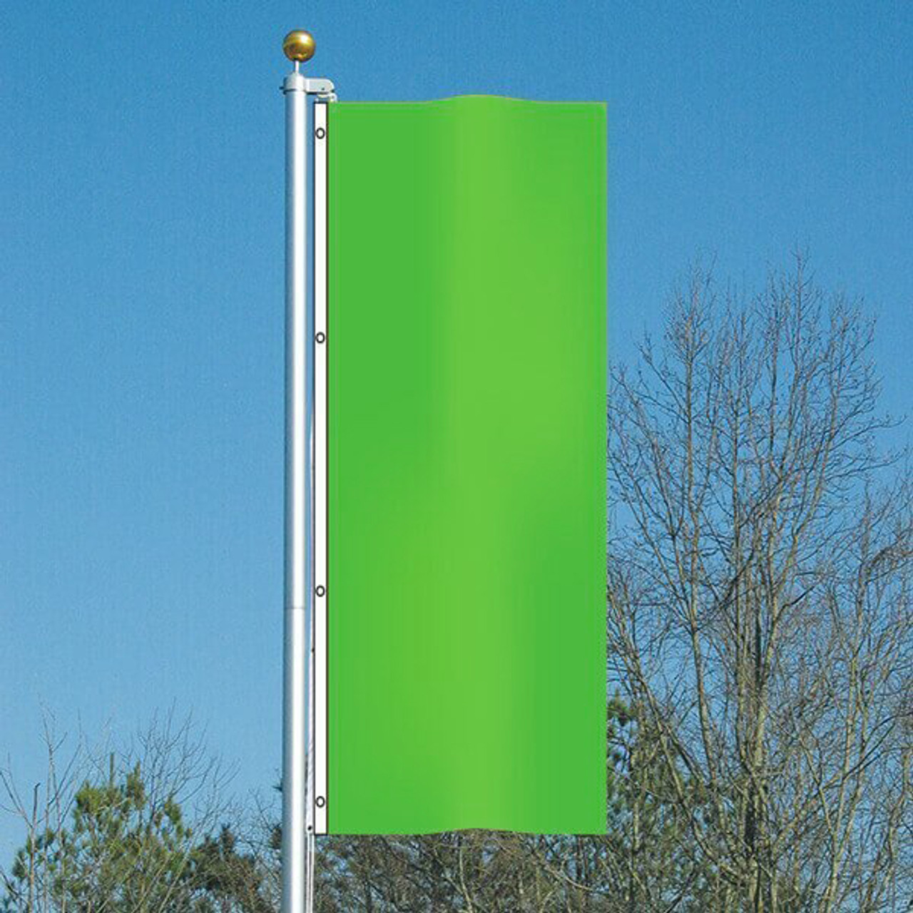 3' x 8' Vivacity Vertical Flag - Be Seen Green