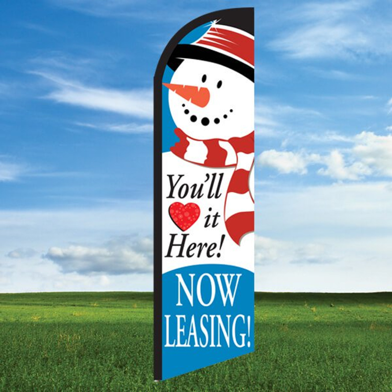 Snowman: You'll Love it Here/Now Leasing- Windleasers 24/7 Widebody Flag
