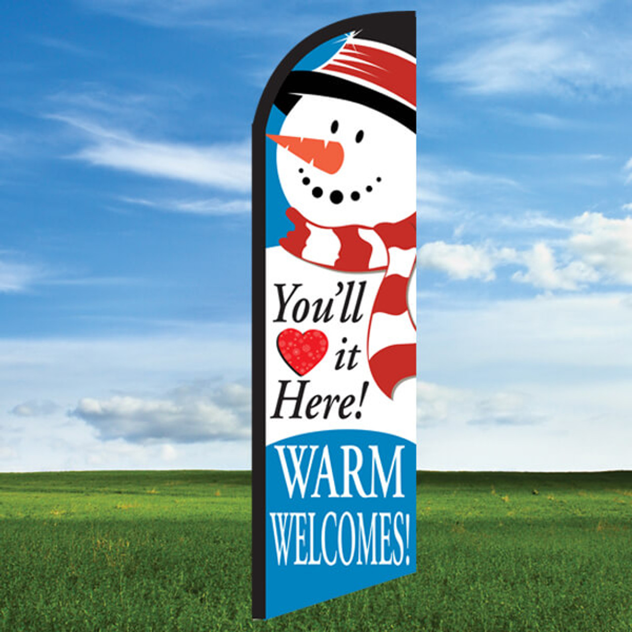 Snowman: Warm Welcomes-Windleasers 24/7 Widebody Flag
