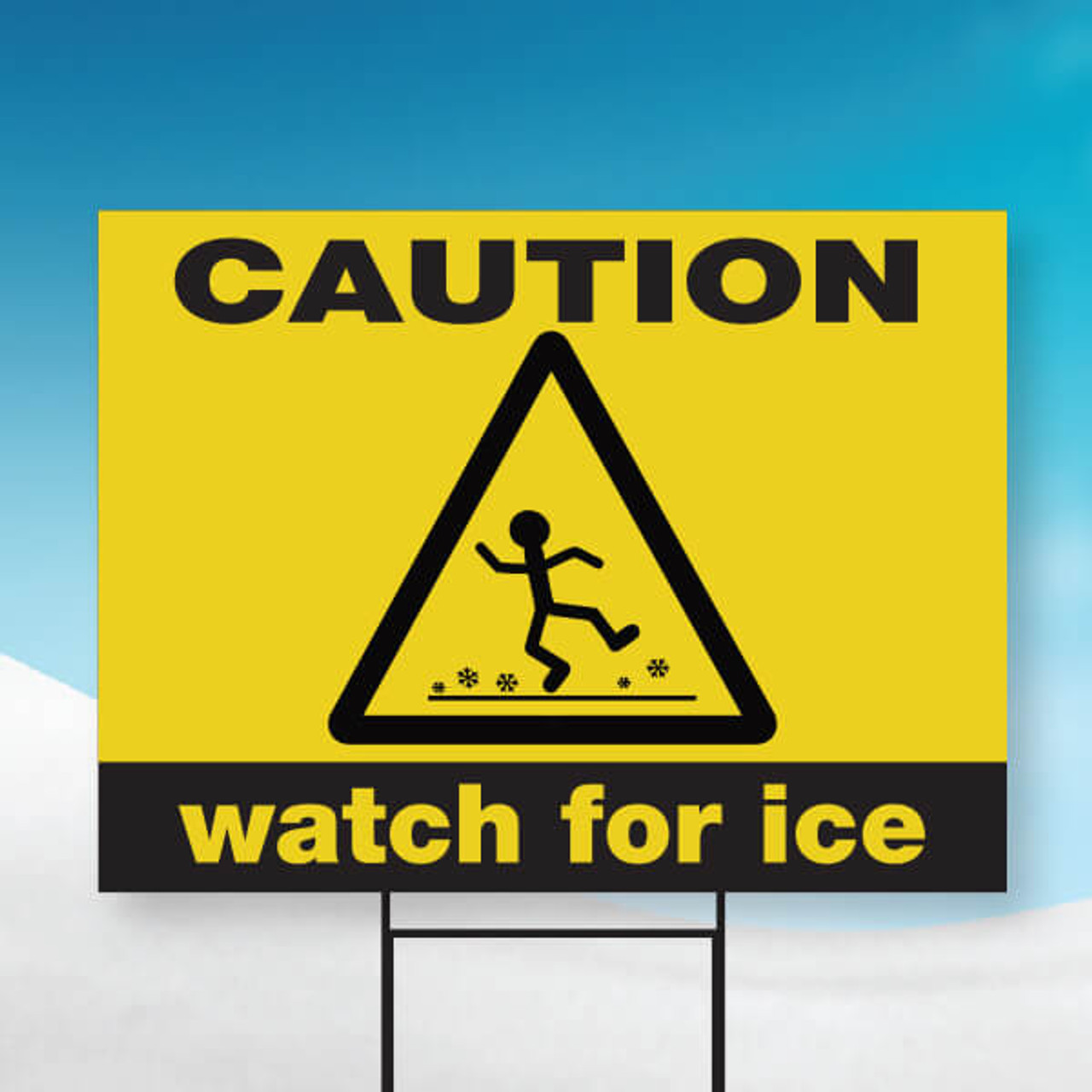 "Watch for Ice-18"" x 24"" Sign"