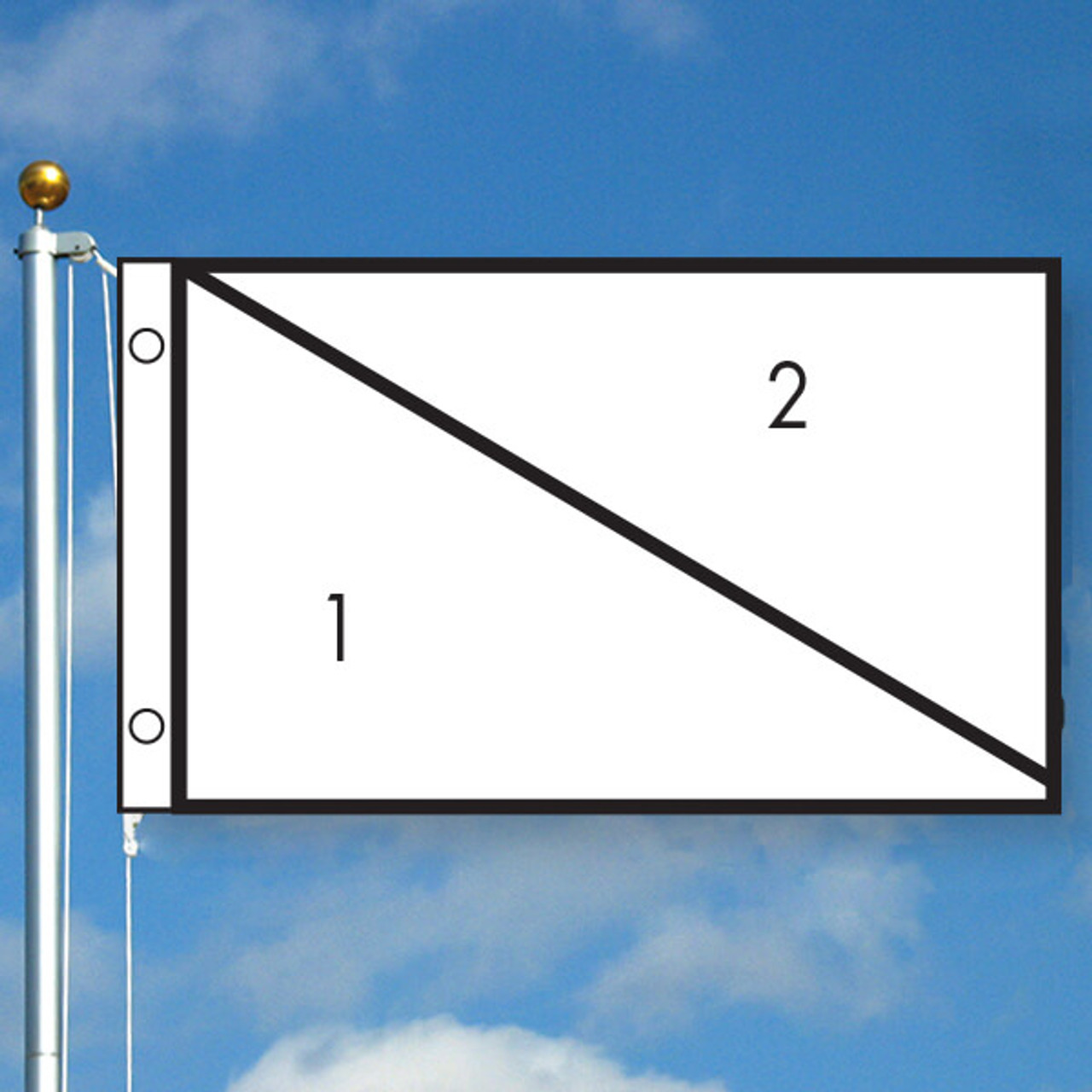 3' x 5' Diagonal Custom Color Flag