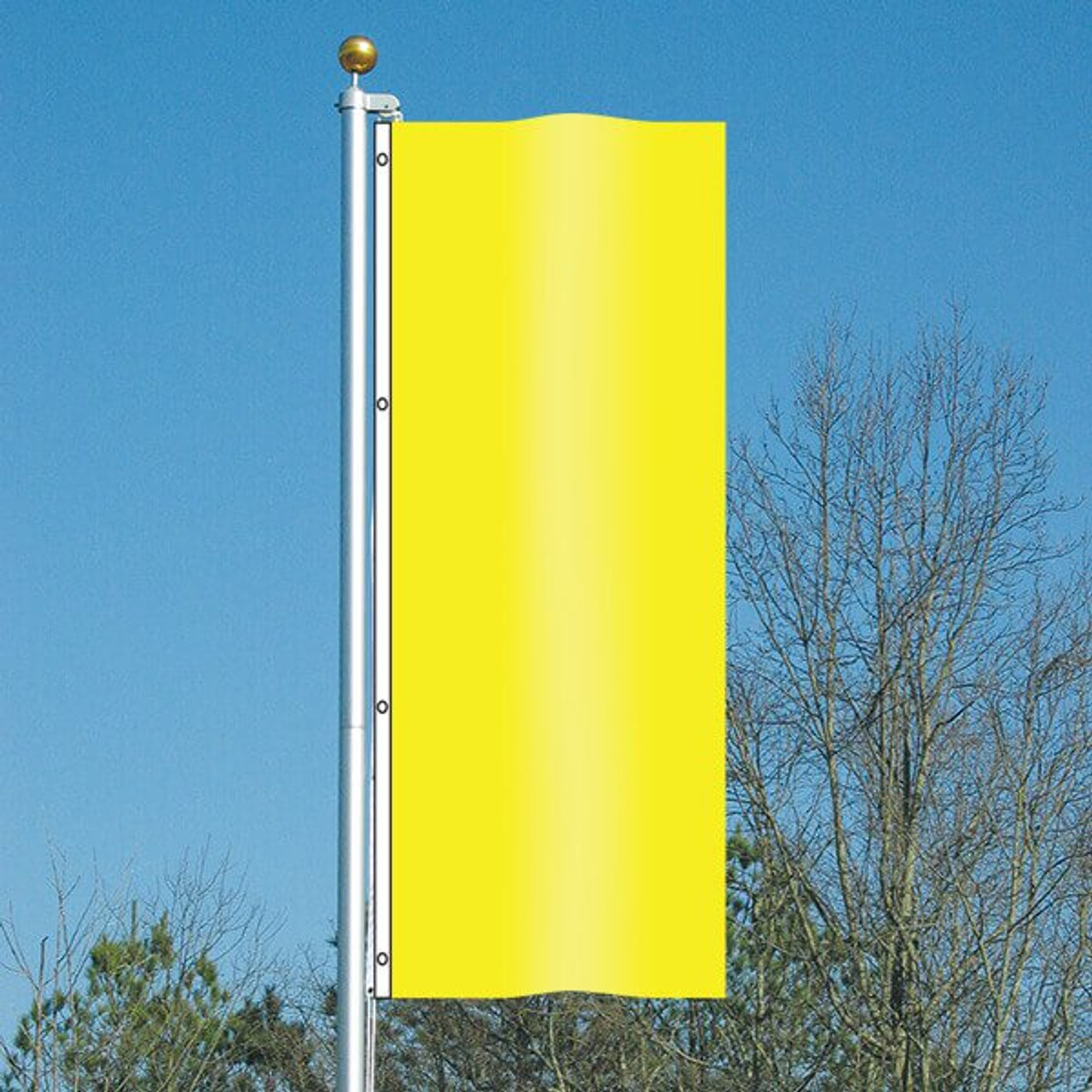 3' x 8' Vivacity Vertical Flag - Happiness Yellow