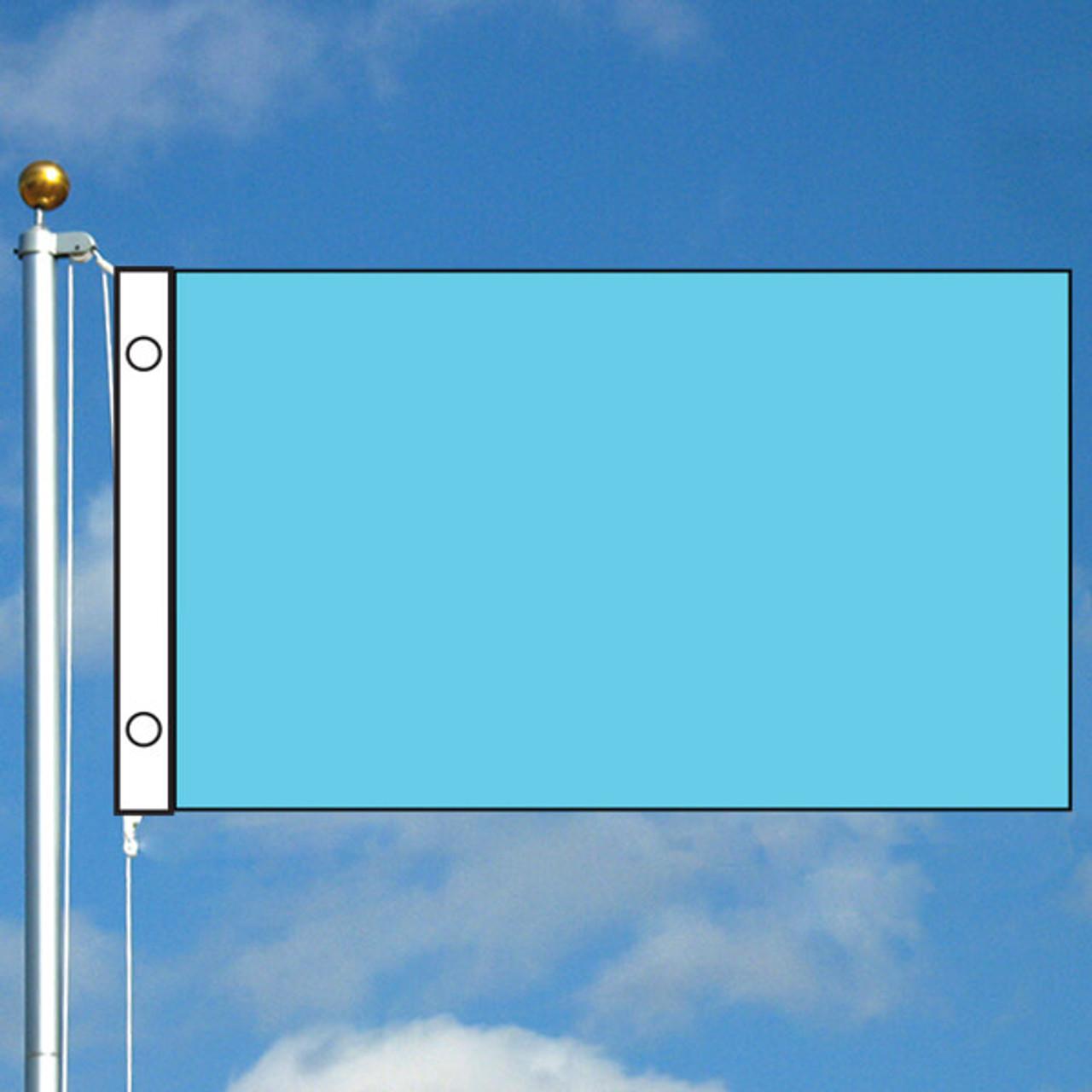 3' x 5' Solid Color Flag - Light Blue