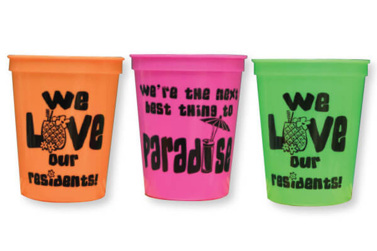 16 oz Paradise Love Our Residents Cups