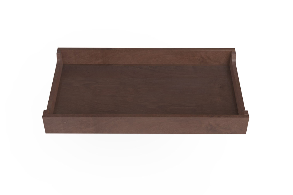 Walnut Stained Changing Tray