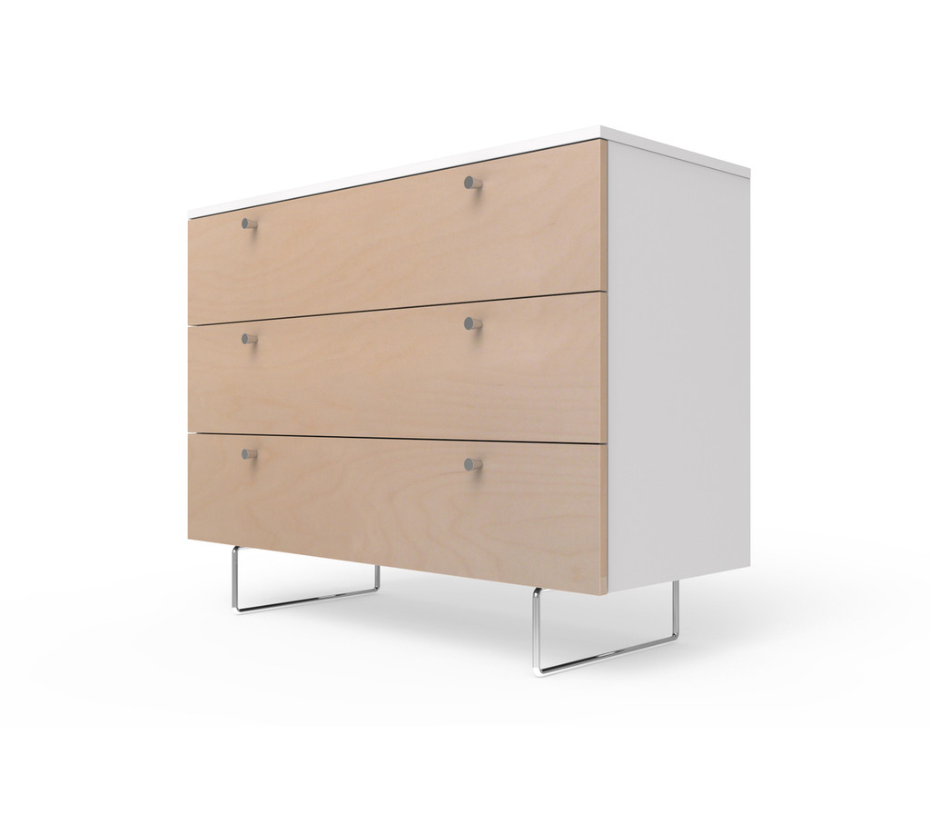 Alto Dresser Birch Drawer fronts and Conical drawer pulls