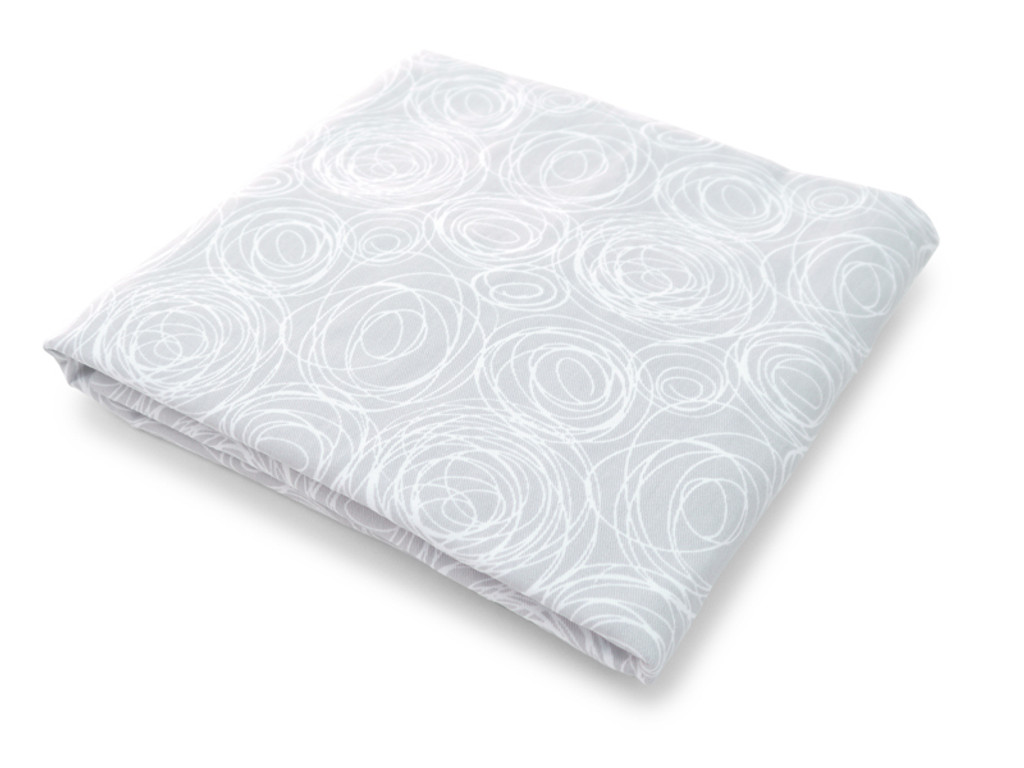 Spun Organic Crib Sheet - Grey