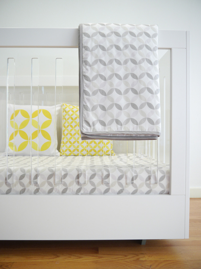 Tops Organic Crib Sheet - Grey