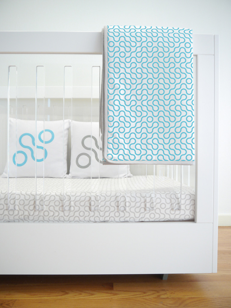 Join Organic Crib Sheet - Blue