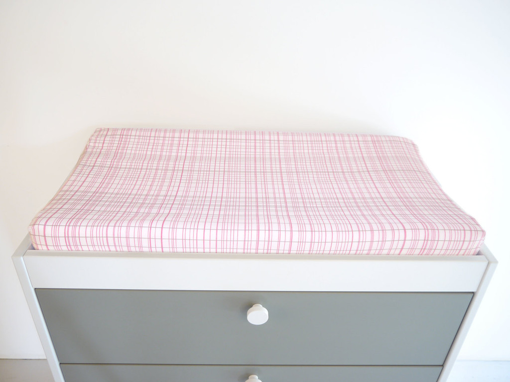 Hashtag Organic Changing Pad Cover - Pink