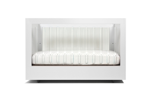 Roh Crib Single Side Acrylic - White