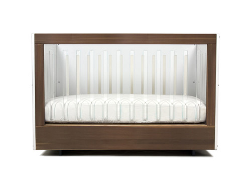 Roh Crib Single Side Acrylic and Walnut
