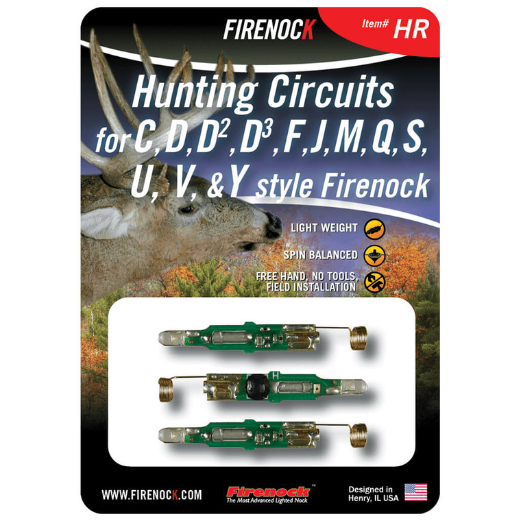The HR pack is our most common circuit and stays solidly lit red until turned off.