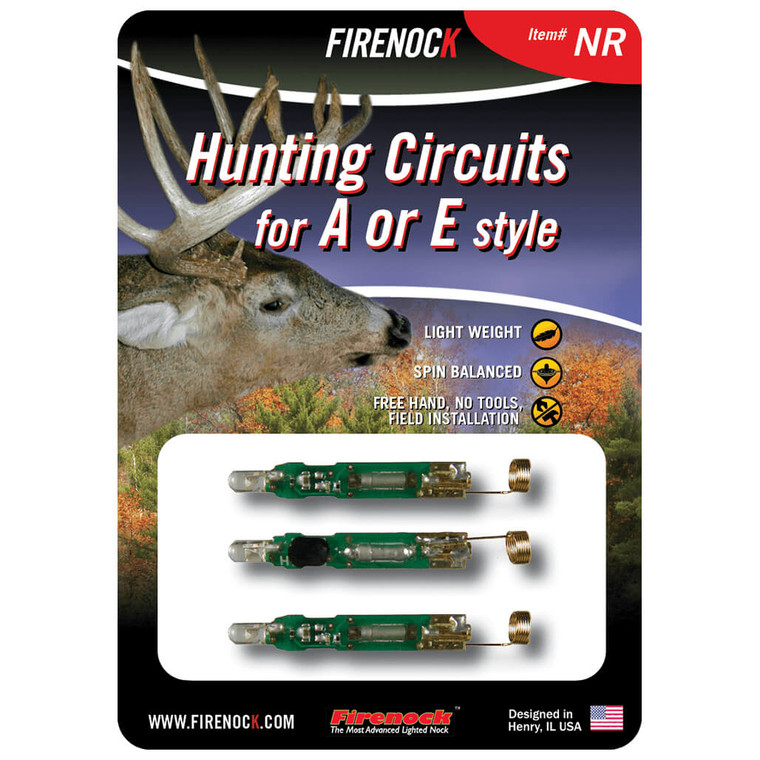 The NR pack is our most common slim circuit and stays solidly lit red until turned off.