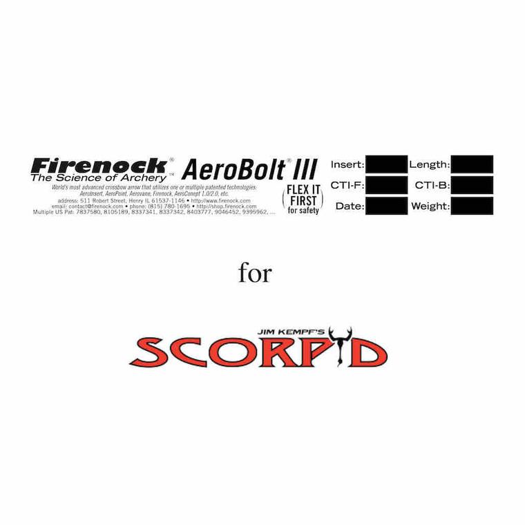 AeroBolt III for Scorpyd crossbow