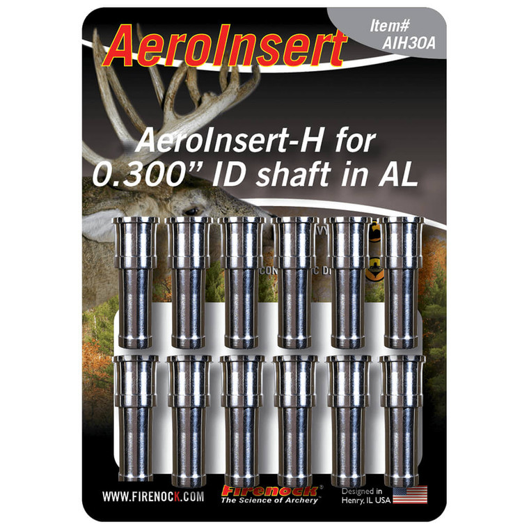"""The AIH30A, sized for 0.300"""" ID class arrows, must be used with CTI300 to create the AeroConcept System; made in aluminium."""