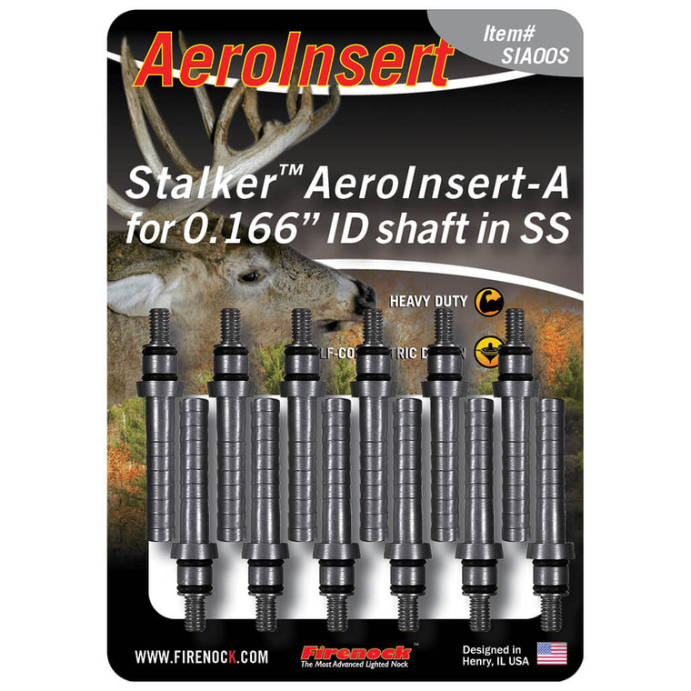 The Stalker AeroInsert-A is available in a twelve pack to be used with any Stalker AeroPoints.