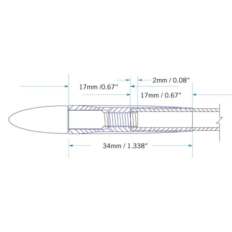Firenock AeroOutserts depend on the only reliable feature of an ultra slim arrow, the outer diameter of an arrow.