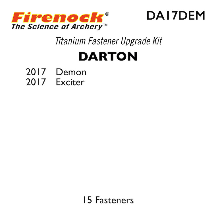 This Titanium Kit for a Darton bow includes 15 fasteners.