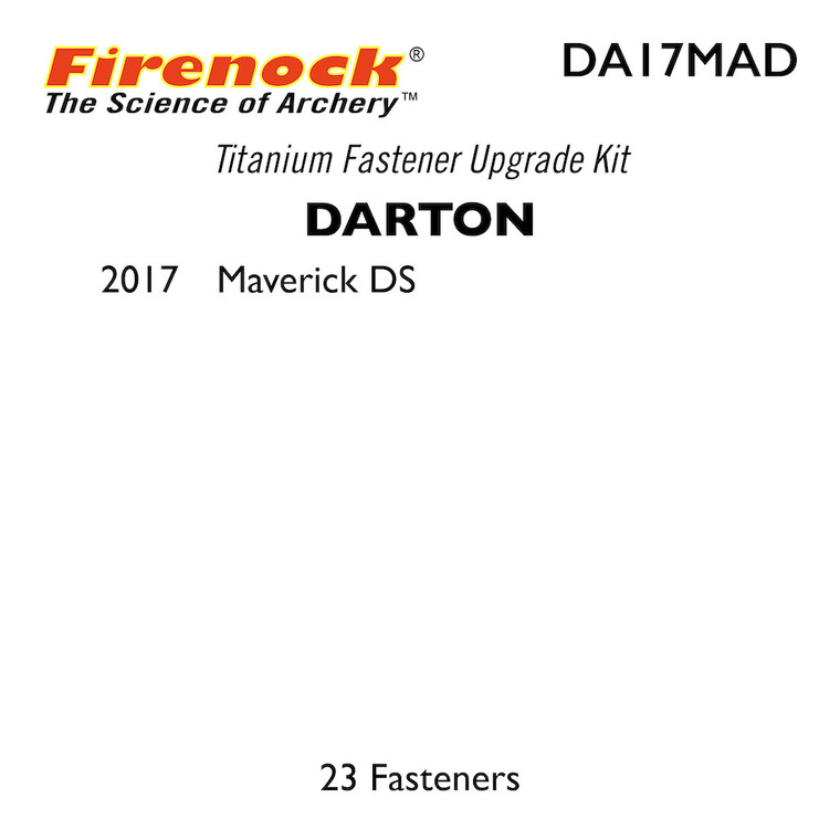 This Titanium Kit for a Darton bow includes 23 fasteners.