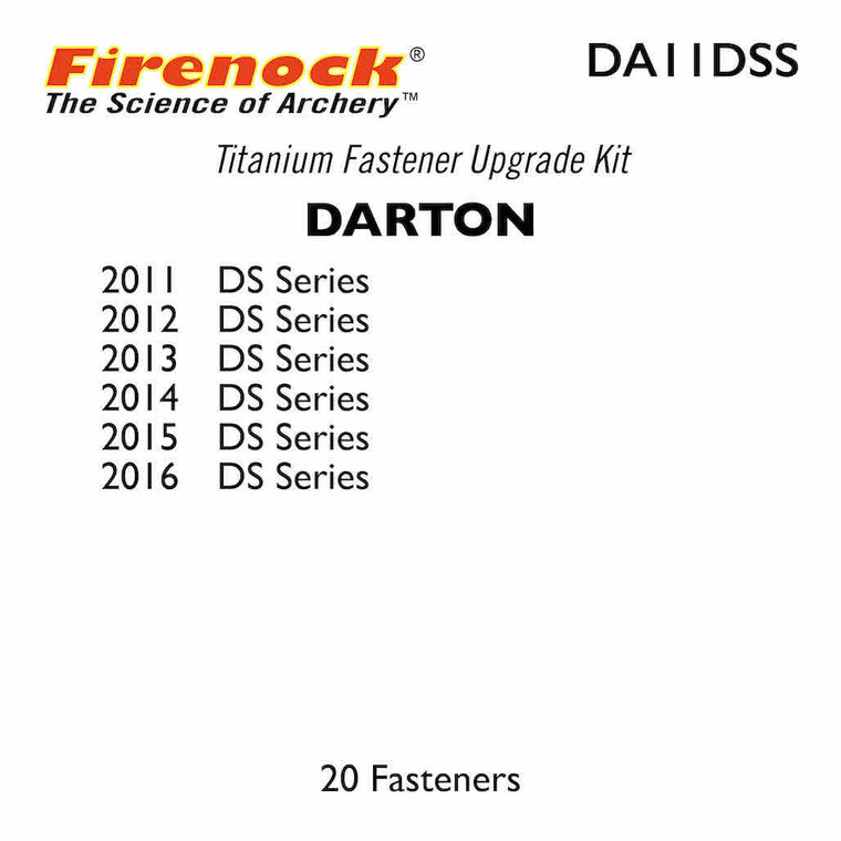 This Titanium Kit for a Darton bow includes 20 fasteners.