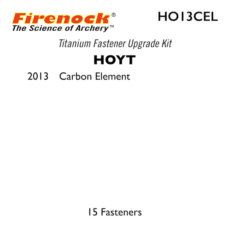 This Titanium Kit for a Hoyt bow includes 15 fasteners.