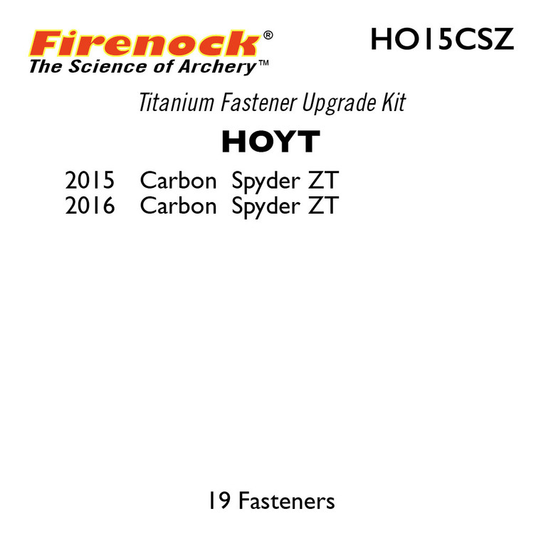 This Titanium Kit for a Hoyt bow includes 19 fasteners.