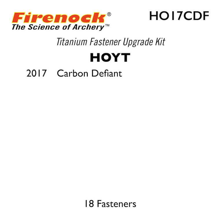 This Titanium Kit for a Hoyt bow includes 18 fasteners.