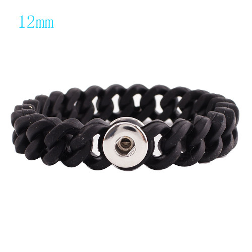 Black Stretch Bracelet (12mm)