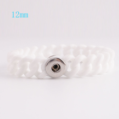 White Stretch Bracelet (12mm)