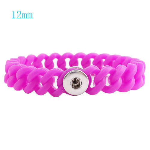 Dark Pink Stretch Bracelet (12mm)
