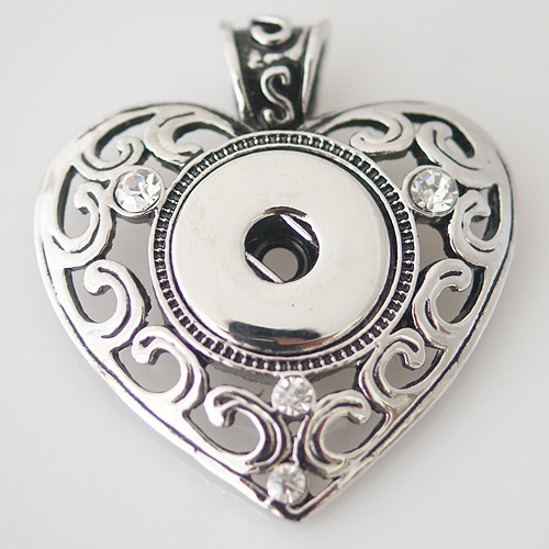 Four Crystals Heart Pendant