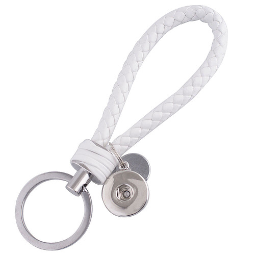 White Braided Key Chain