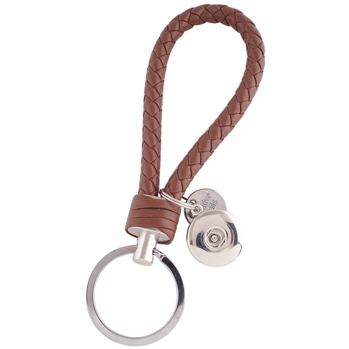 Brown Braided Key Chain