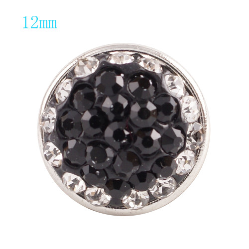 Crystal and Black Snap (12mm)