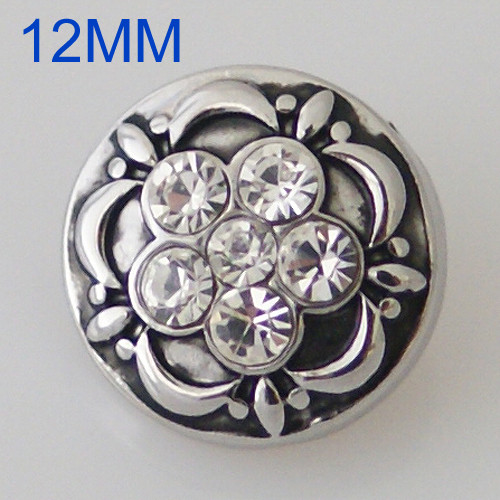 Crystal Flower Snap (12mm)