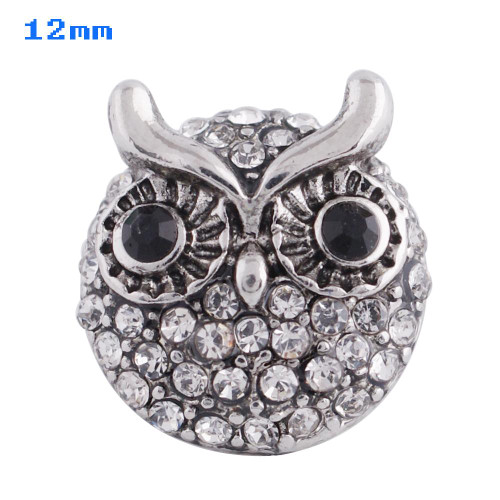 Sparkle Owl Snap (12mm)