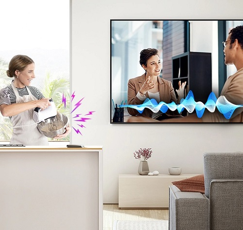 Samsung QLED QE75Q90T TV with Active Voice Amplifier (AVA) Technology