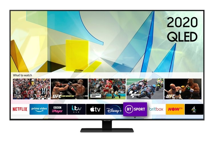 Samsung QE55Q80T Smart TV Tizen Screen